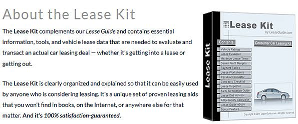 The Lease Kit complements our Lease Guide and contains essential information