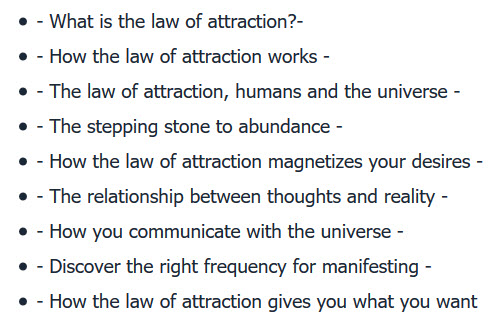 Unlocking the Mysteries of the Law of Attraction