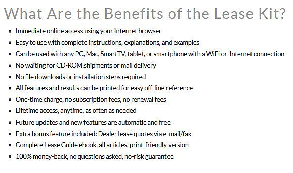 the Benefits of the Lease Kit