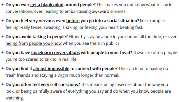 your social anxiety