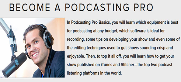 BECOME A PODCASTING PRO