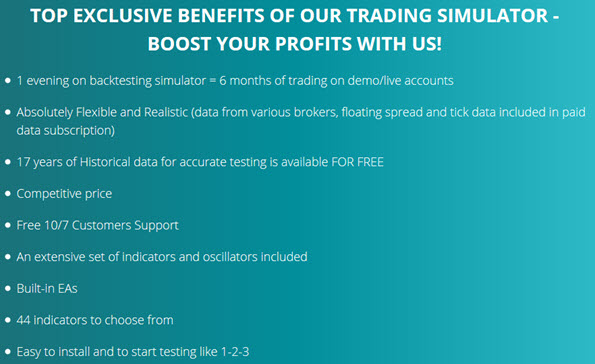 TOP EXCLUSIVE BENEFITS OF OUR TRADING SIMULATOR