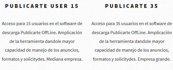 el software de descarga Publicarte