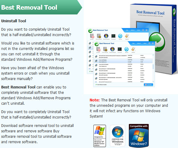 software removal tool to uninstall software