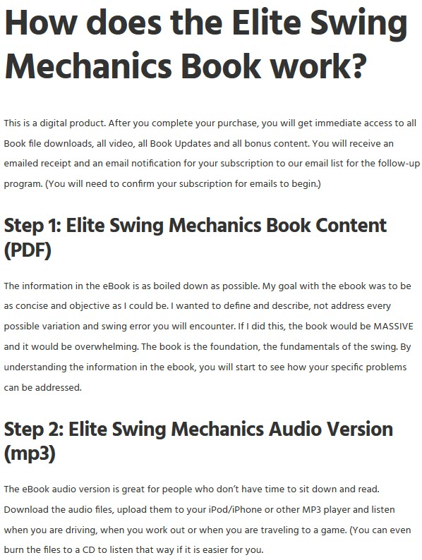 Elite Swing Mechanics Audio Version