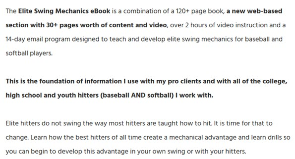 The Elite Swing Mechanics eBook